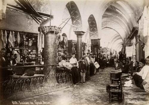 (figure 6) Interior of the Grand Bazaar in Istanbul, circa 1890s. Norbert Schiller Collection, Phot. Sabah & Joaillier